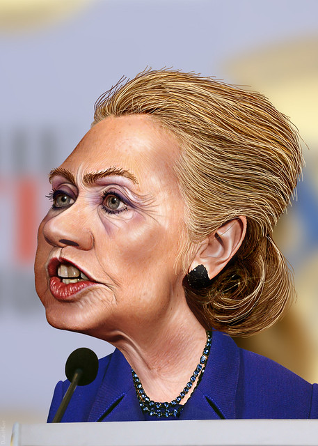 Hillary Clinton Caricature Flickr Photo Sharing