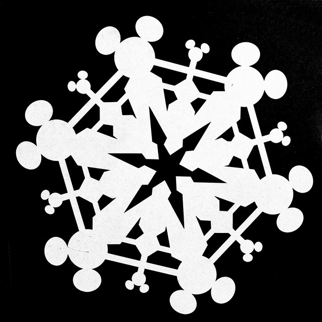 Mickey Mouse Snowflake Flickr Photo Sharing