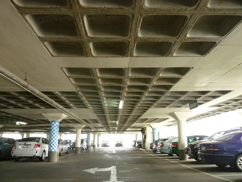 Waffle Slab Soffit Of Myer Dandenong Car Park Opened In