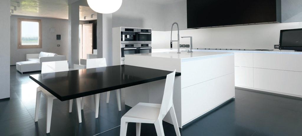 ... 012 kitchen. corian doors. \u0027absolute black\u0027 granite peninsula top | by alexander & 012 kitchen. corian doors. \u0027absolute black\u0027 granite penins\u2026 | Flickr