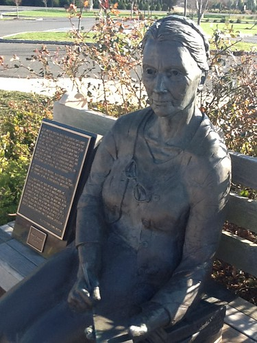 Dorothy Day statue, St Mary's Church, Colts Neck, NJ | by jimforest