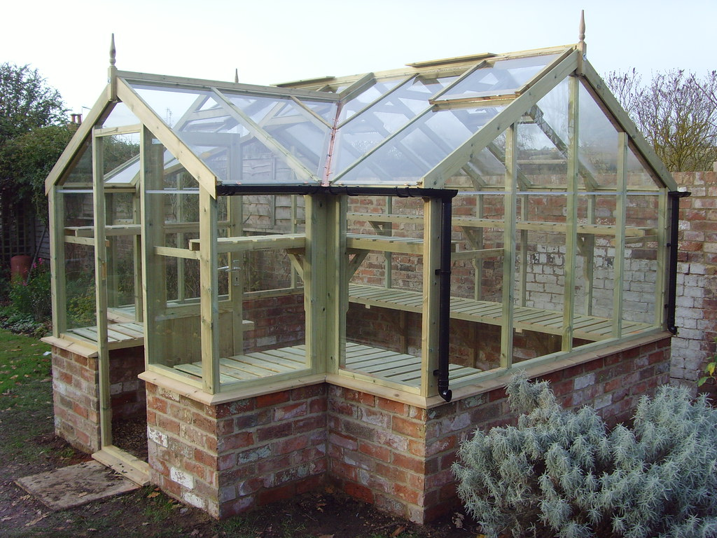 Swallow mallard greenhouse 8 39 9 x 11 39 5 on brick base flickr for Build a victorian greenhouse