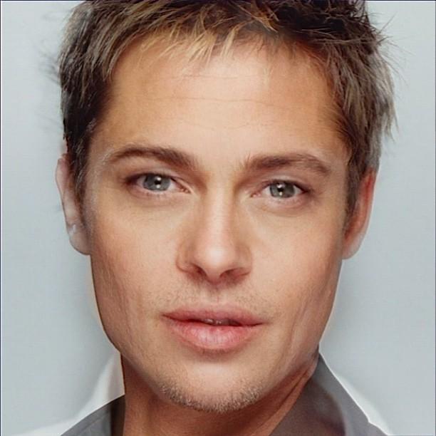 Average face of Angellina Jollie and Brad Pitt; Generated … | Flickr Brad Pitt