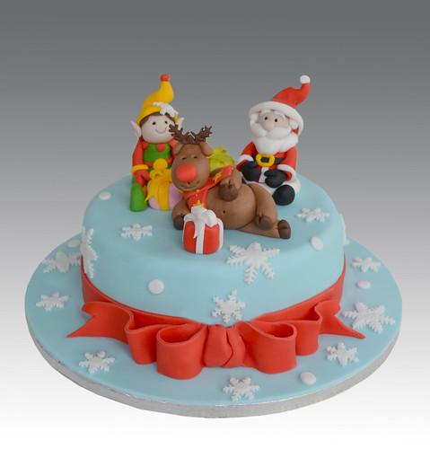 D Santa Cake Pan