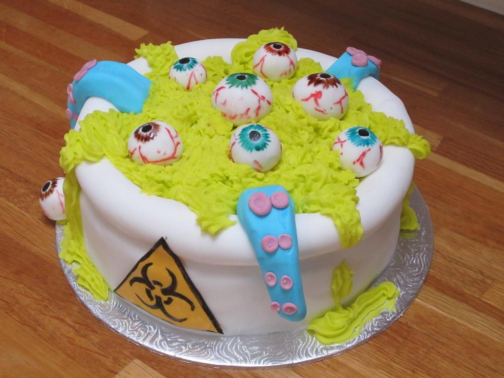 biohazard mad scientist cake | lajlascakes.blogspot.co.uk ...