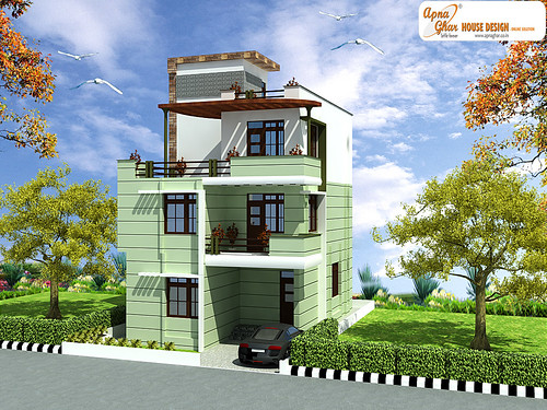 Triplex house design this is a beautiful three bedrooms for Modern triplex house plans