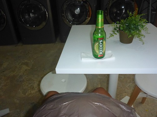 Laundry with beer...
