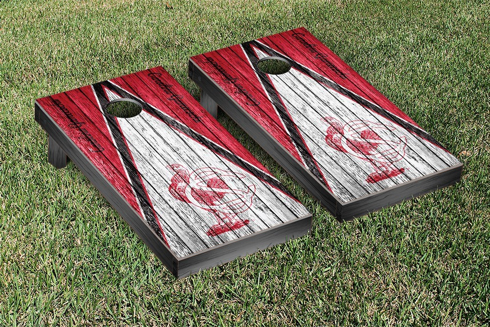 South Carolina College Vault Gamecocks Cornhole Game Weathered Triangle Version
