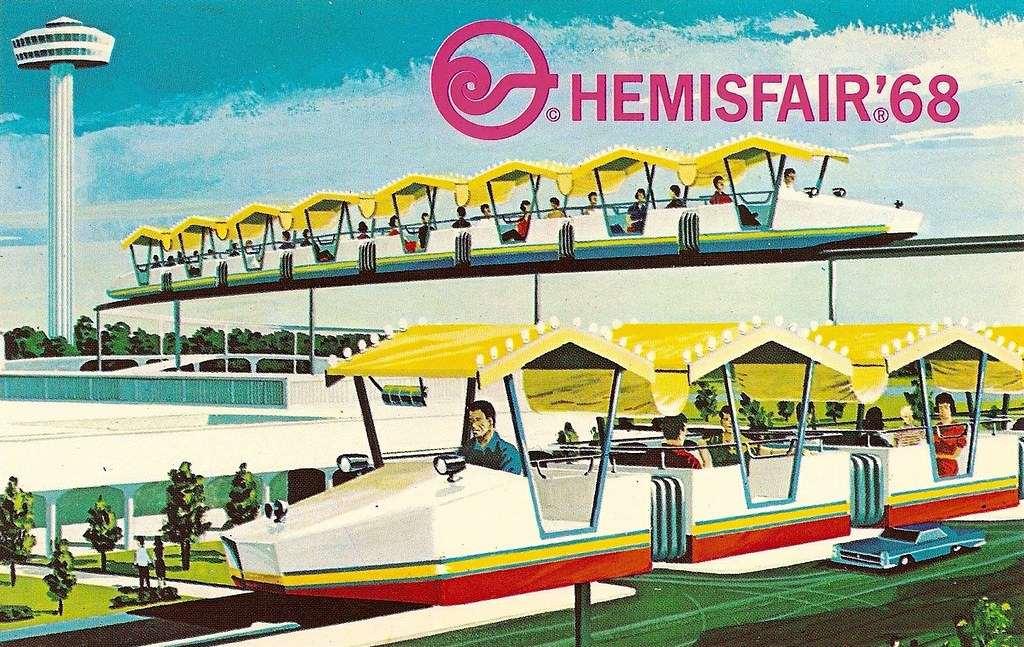Mini Monorail 1968 Hemisfair 68 1968 World S Fair
