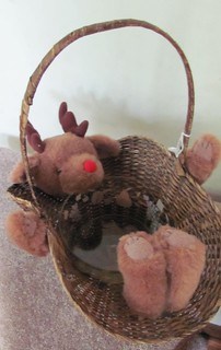 Disembodied Bear/Reindeer Christmas Basket | by the-empress