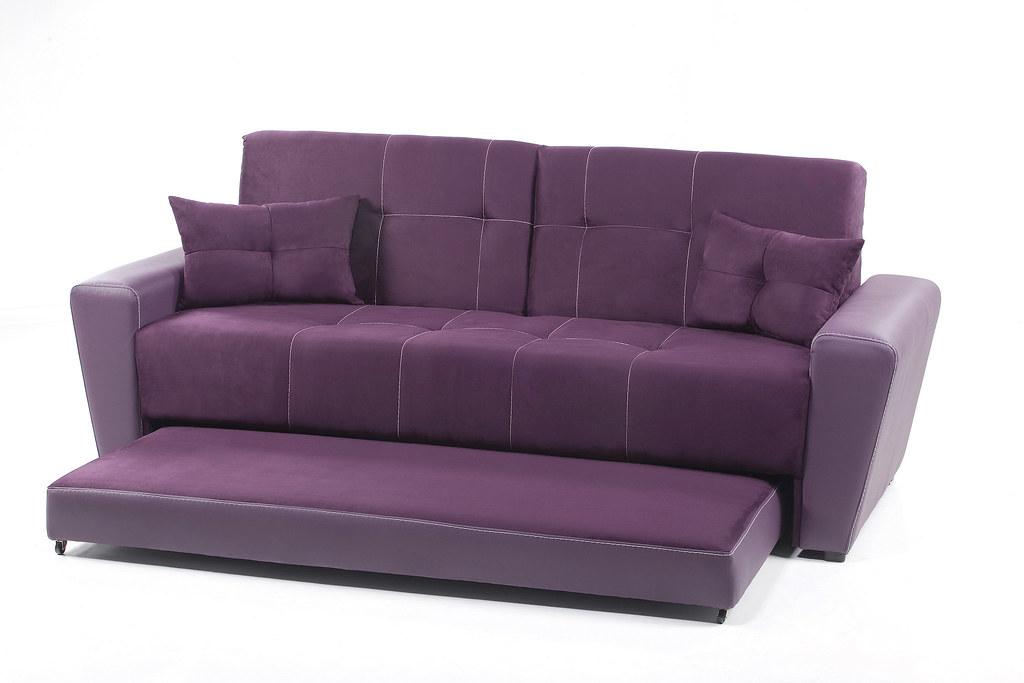Sof cama sandirel morado placencia muebles placencia for Sofa cama 2 plazas falabella