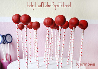 Holly Leaf Cake Pops TUTORIAL | by niner bakes