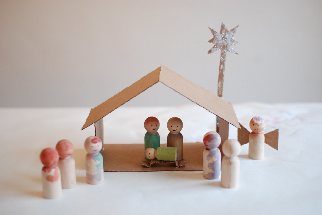 Homemade Nativity Scene One Of Our Advent Activities
