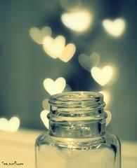 Jar of falling hearts by Sea.sunflower