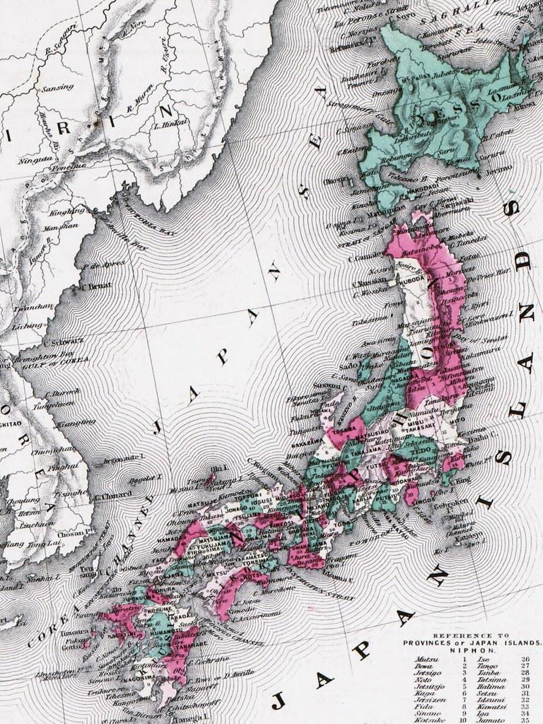 Western Japanese Map Wallpaper