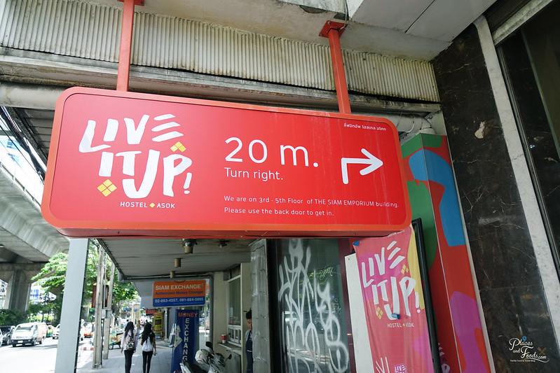 liveituphostel asok signboard
