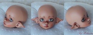 Commission faceup, body blushing and mohair wig | by heliantas
