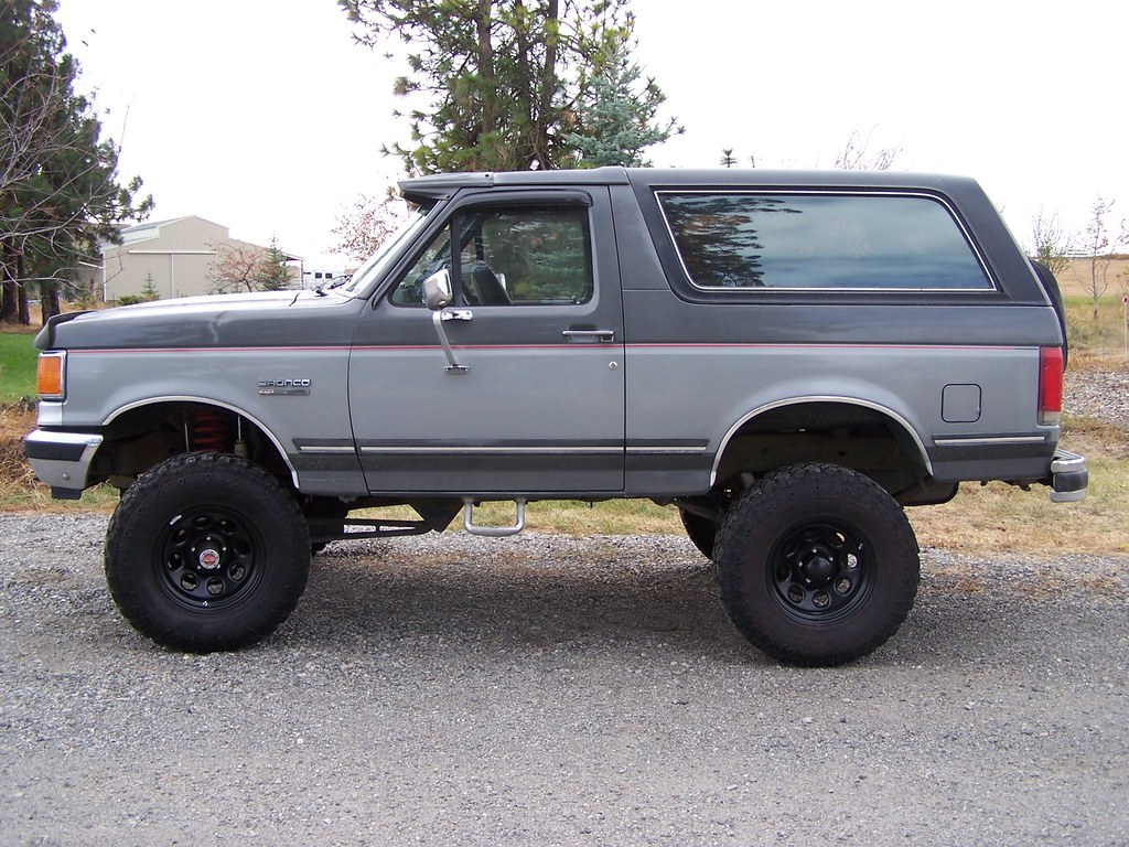 "New Ford Bronco >> 1989 Ford Bronco with 35"" Fierce Attitude Tires 