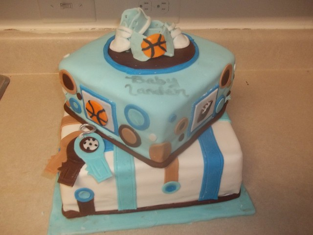 sports themed baby shower cake flickr photo sharing