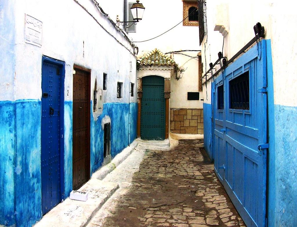 Blaue Häuser marokko rabat innerhalb der kasbah des oudaïas pittor flickr