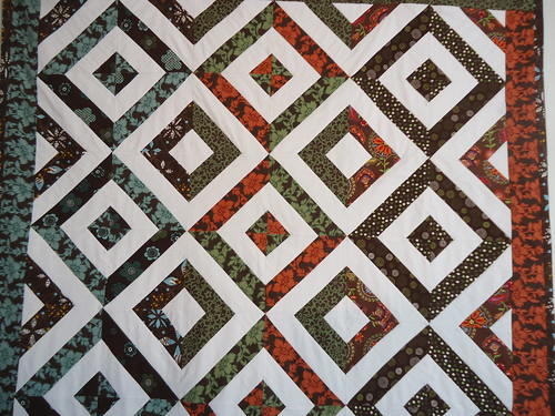 Double hour glass quilt / Fabric Traditions / done ! | by ZiKiarts
