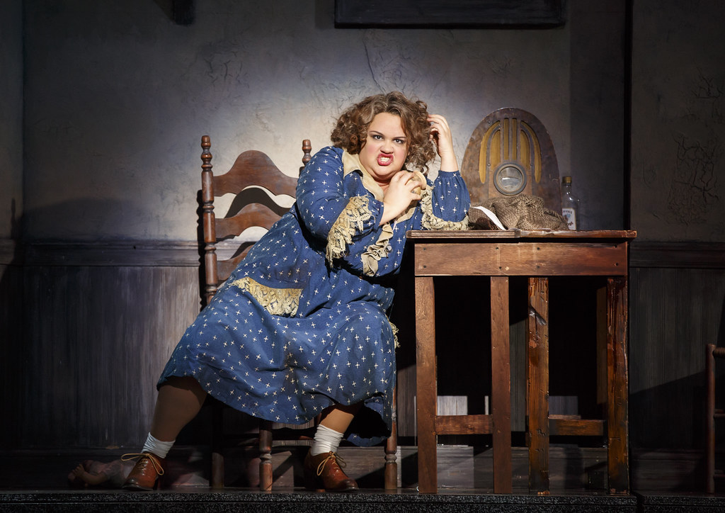 Lynn Andrews as the querulous Miss Hannigan. (Credit: BASE Entertainment)