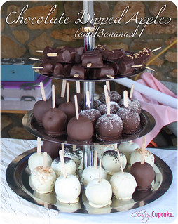 Chocolate Dipped Apples | ChrissyCupcake | by chrissycupcakery