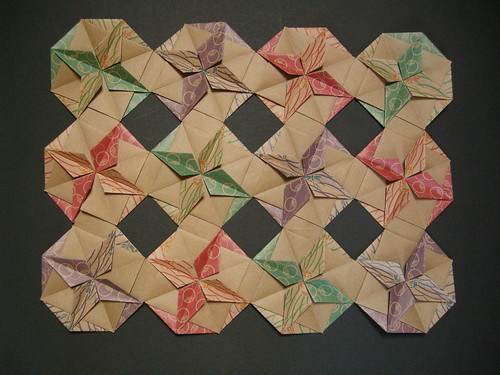 Quarter of octagons variation (quilt opus LXI) reverse | by Mélisande*