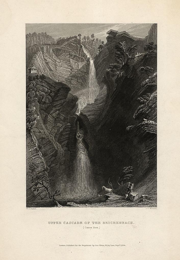 upper cascade of the reichenbach  w h  bartlett  1835