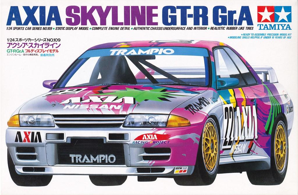 r32 nissan skyline gtr axia group a 1991 jtcc tamiya