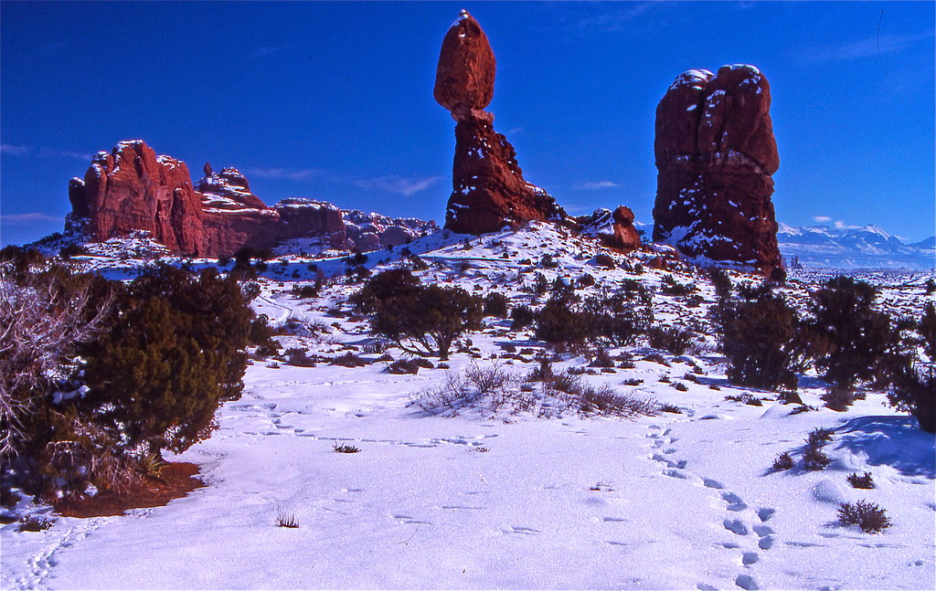 Balanced Rock In Arches Nationalpark Moab Utah Usa 1991