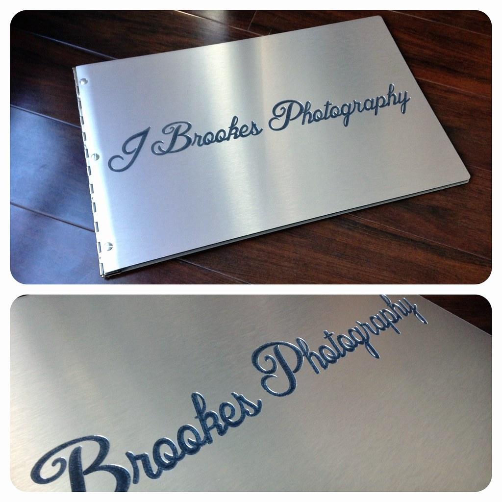 Klo Portfolios- Custom brushed silver photography presenta