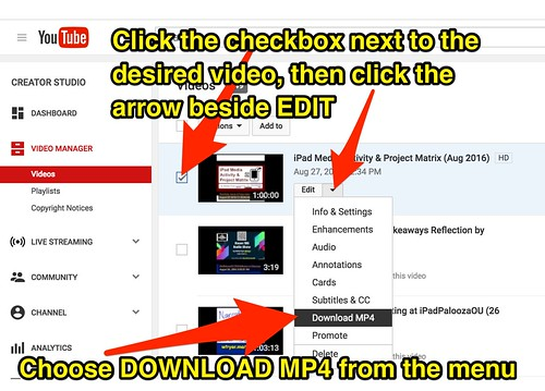 Download MP4 from YouTube | by Wesley Fryer