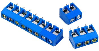 2 and 3 Position Terminal Blocks Coupled