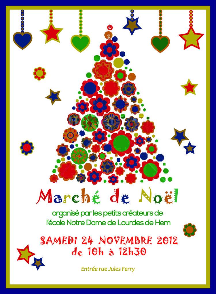 Invitation Retenue Pour Le Marche De Noel Ecole Ndl Hem Flickr