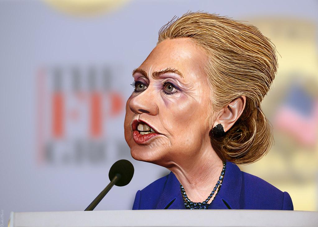 Hillary Clinton Caricature Hillary Diane Rodham