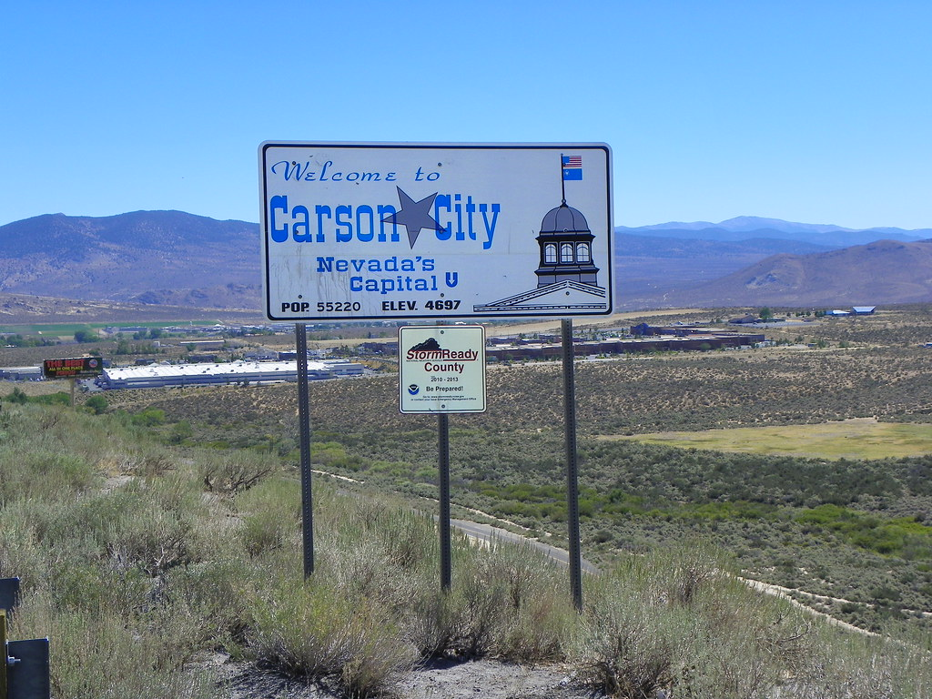 Welcome to Carson City, Nevada   Marking the completion of ...