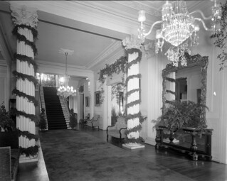 N_53_15_565 Governor's Mansion Interior, Showing Christmas Decorations, 1953 | by State Archives of North Carolina