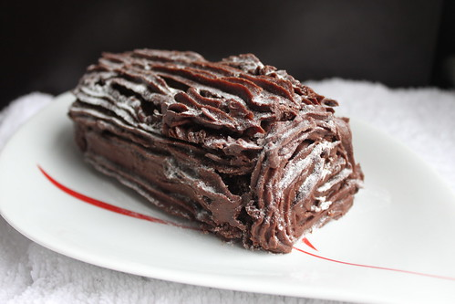 Gluten Free Christmas chocolate log | by thecuriousbaker