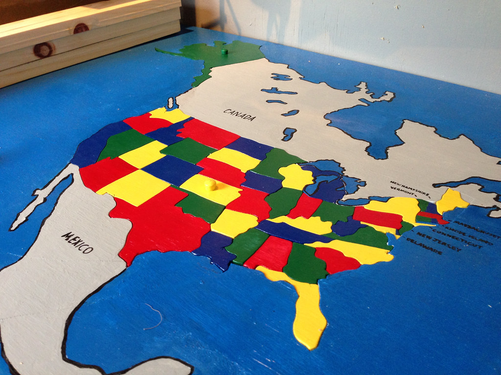 U S Map Puzzle With Alaska And Hawaii To Scale And In Location Flickr