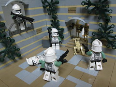 Droid attack on Naboo by JLM Bricks