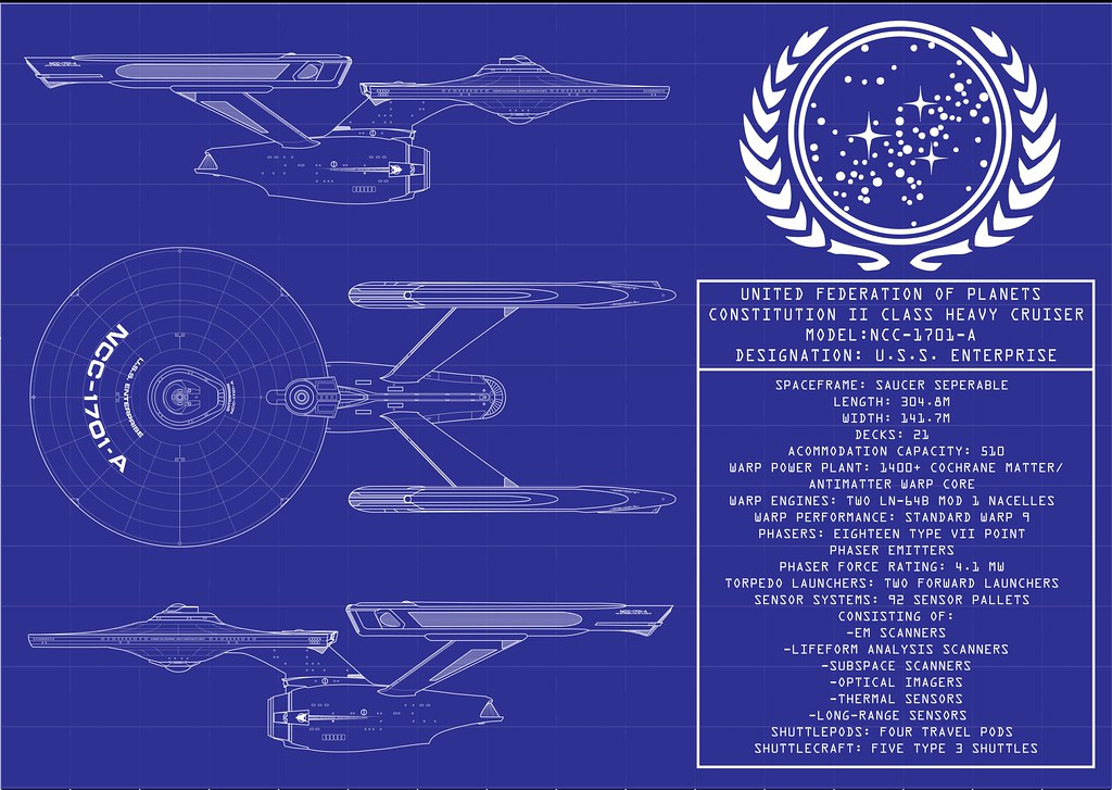 Blueprints Uss Enterprise C Pictures To Pin On Pinterest