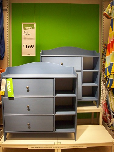Trogen chest love the combination of drawers and open stor flickr - Ikea letto allungabile trogen ...