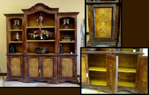 Old World Tuscan Cabinet Bookcase Childress Old World Fu