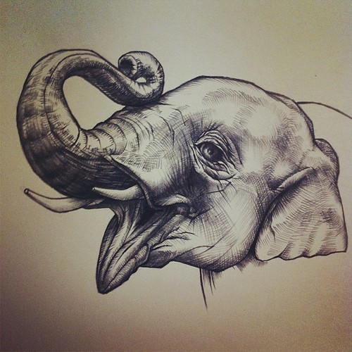 #elephant #drawing #sketch #art #artwork #pencil #charcoal ...