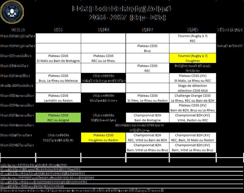 Planning EDR 2016-2017
