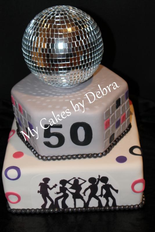 50th Birthday Cake 70s Disco Theme Debra Montgomery Flickr