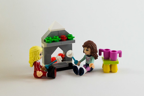 The girls toast marshmallows by the fire | by The LEGO woman
