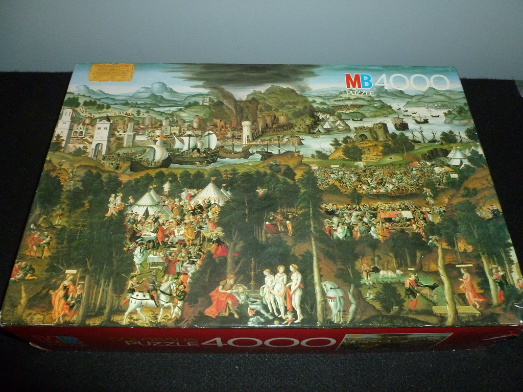 4000 piece puzzle the judgement of paris and the trojan flickr. Black Bedroom Furniture Sets. Home Design Ideas