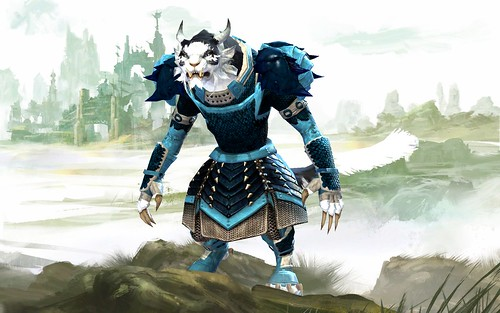 My Charr Guardian Wearing Scale and Reinforced Scale Armor with Karka Shell Pauldrons | by brinstar